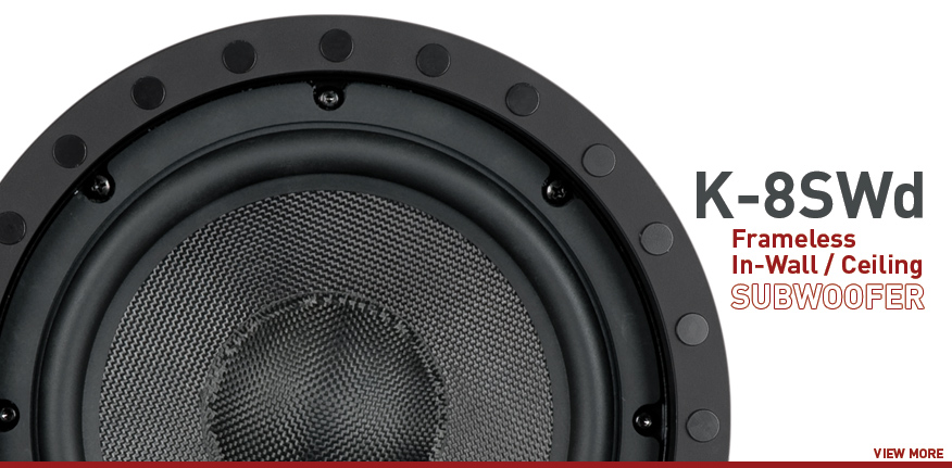 Frameless In-Wall In-Ceiling Subwoofer - K-8SWd